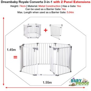dreambaby-royale-converta-3-in-1-playpen-with-2-panel-extensions-size-dimensions-2020