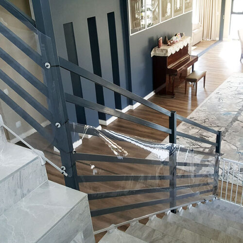 clear-sheeting-protective-guard-for-stair-banisters