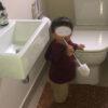 Baby Proof Toilet Brush Velcro Latch