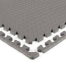 Grey interlocking play mat
