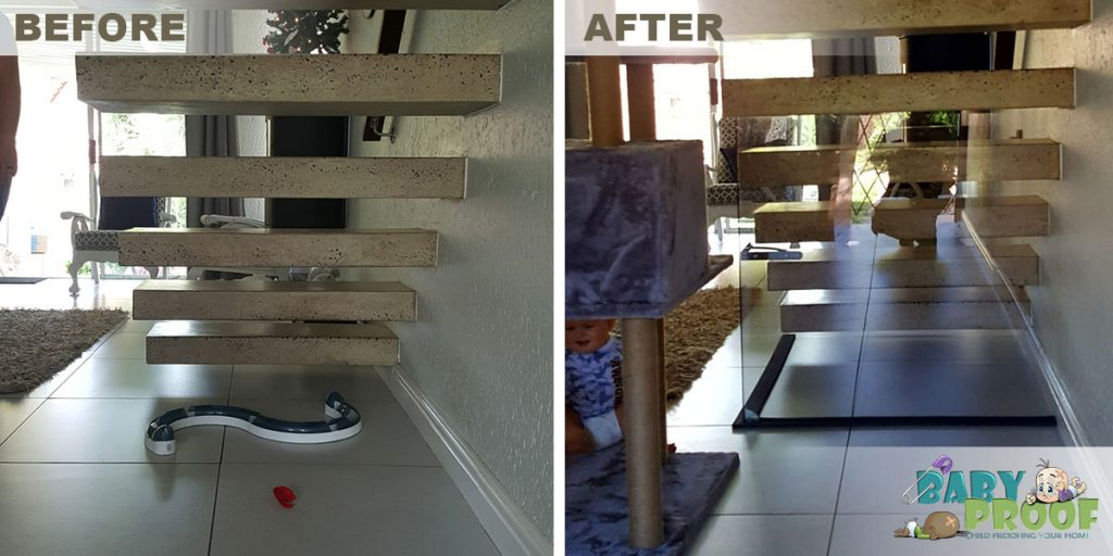 childproofing-a-floating-staircase-before-after